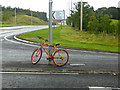 NY8564 : The stripey bikes of Haydon Bridge (7) by Oliver Dixon