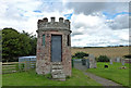 NT7027 : Watch-house at Eckford Parish Church by Mary and Angus Hogg