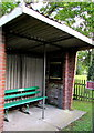 SZ5788 : Ashey railway station shelter and bench, Isle of Wight Steam Railway by Jaggery