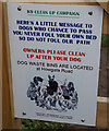 SZ6587 : K9 clean up campaign by Ian S