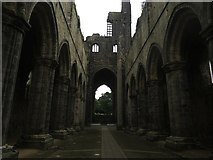 SE2536 : The nave of Kirkstall Abbey by Graham Robson