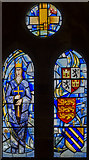 SK8770 : Queen Eleanor Stained glass window, All saints' church, Harby by Julian P Guffogg