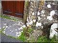 SN0815 : St Andrew's church Robeston Wathen - boot scraper by welshbabe