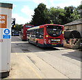 SO8504 : Buses in the bus depot, Bowbridge, Stroud by Jaggery