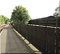 SZ5990 : Fences between two stations at  Smallbrook Junction near Ryde by Jaggery