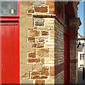 SS4526 : Construction detail, Bideford Pannier Market by Robin Stott