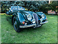 TQ3499 : Jaguar at Classic Car Show, Capel Manor, Enfield by Christine Matthews