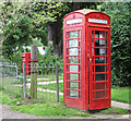 TG4015 : Telephone and postbox by Evelyn Simak