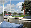 TG4015 : Private moorings on the River Thurne by Evelyn Simak
