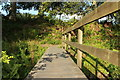 NS3705 : Footbridge over the Old Mill Lade by Billy McCrorie