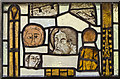 SK8172 : Medieval stained glass window, St Gregory's church, Fledborough by Julian P Guffogg