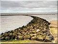 SJ2994 : New Brighton Beach Breakwater by David Dixon