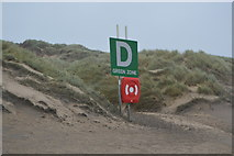 TQ9618 : Muster Point D, Camber Sands by N Chadwick
