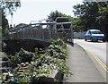 SZ5882 : Side of a tubular footbridge, Lake, Isle of Wight by Jaggery