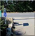 SZ5882 : Coastal Path diversion sign, Lake, Isle of Wight by Jaggery