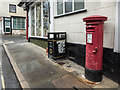 SO3164 : George VI Pillar Box, Broad Street, Presteigne, Powys by Christine Matthews