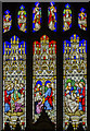 SK9239 : East window, Ss Peter & Paul church, Belton by Julian P Guffogg