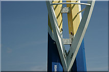 SZ6299 : Spinnaker Tower Under the Roller by Peter Trimming