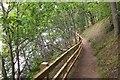 NN9358 : Lochside path, Pitlochry by Jim Barton
