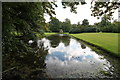 SK9339 : The Mirror Pond, Belton House by J.Hannan-Briggs
