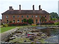ST3918 : Lily pond and Strode House, Barrington Court Estate by Robin Drayton