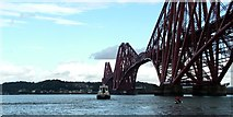 NT1378 : Smit Young tender beneath the Forth Rail Bridge by Peter Evans