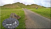 NZ2377 : Northumberlandia from entry point to park by Chris Morgan