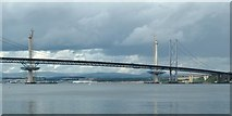 NT1279 : New Queensferry Crossing towers by Peter Evans