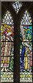 SK9341 : Stained glass window, St Nicholas' church, Barkston by Julian P Guffogg