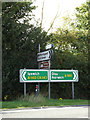 TM1164 : Roadsigns on the A140 Ipswich Road by Adrian Cable