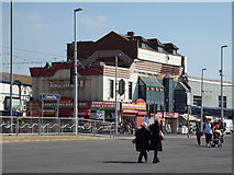 SD3035 : Everything has to go! Shops and a bar, Blackpool Promenade by Robin Stott