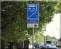 J4074 : Bus lane cameras sign, Rosepark, Belfast (September 2015) by Albert Bridge