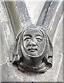 TL3042 : St Catherine, Litlington - Label head by John Salmon