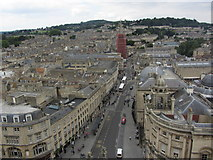 ST7564 : On the tower of Bath Abbey - View towards High St by Colin Park