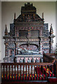 SE5377 : St Michael's church, Coxwold - monument to Sir William Belasyse by Mike Searle
