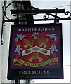 TL9758 : Sign for the Brewers Arms, Rattlesden by JThomas