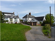 SO7845 : Houses on Pickersleigh Road, Barnard's Green, Malvern by Jeff Gogarty