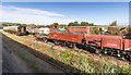 SP0229 : Wagons and carriages at Winchcombe by David P Howard