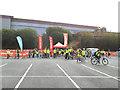 SE1632 : Bradford Skyride 2015: demonstration area by Stephen Craven
