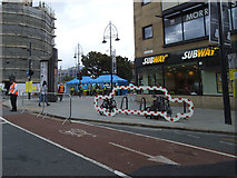 SE1632 : Cycle parking on Broadway, Bradford  by Stephen Craven