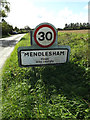 TM1065 : Mendlesham Village Name sign on Brockford Road by Adrian Cable