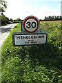 TM1065 : Mendlesham Village Name sign on Brockford Road by Geographer