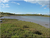 SD0894 : Muddy banks of the tidal Esk by Richard Law