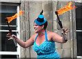 NT2573 : Street performer, Edinburgh Fringe by William Starkey