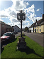 TM1065 : Mendlesham Village sign by Geographer