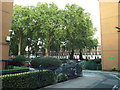 TQ3082 : A view into Regent Square from the northwest, St Pancras area, London by Robin Stott