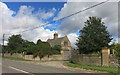 SP5725 : Gates to Caversfield House by Des Blenkinsopp