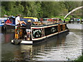 TQ1281 : Black Bart, narrowboat on Paddington Branch canal by David Hawgood