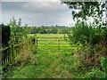 SK1735 : Gate to Field Behind Boylestone Methodist Church by David Dixon