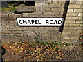 TM1065 : Chapel Road sign by Geographer